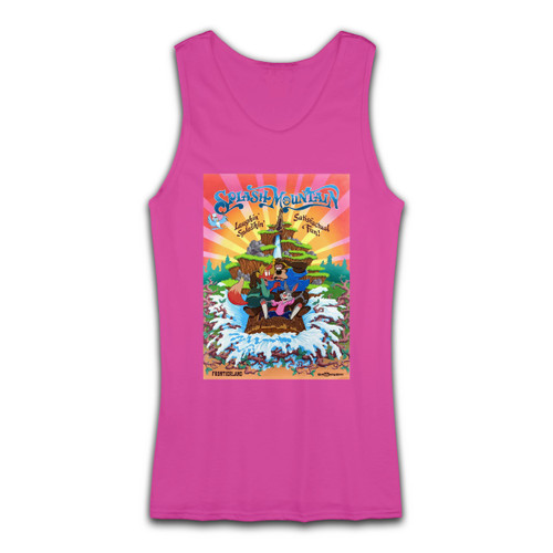 High quality print of this slim fit Splash Mountain Disneyland Park Vintage Poster Women Tank Top will turn heads. And bystanders won't be disappointed - the racerback cut looks good one any woman's shoulders.