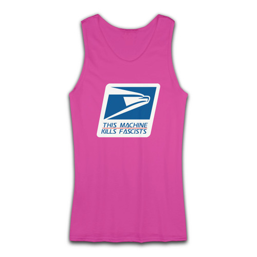 High quality print of this slim fit USPS Stop Fascists Kill Fascists Women Tank Top will turn heads. And bystanders won't be disappointed - the racerback cut looks good one any woman's shoulders.