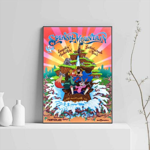 Splash Mountain Disneyland Park Vintage Poster Poster