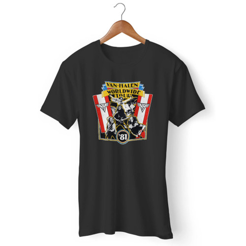 1981 Vintage Van Halen World Wide Tour Men T Shirt