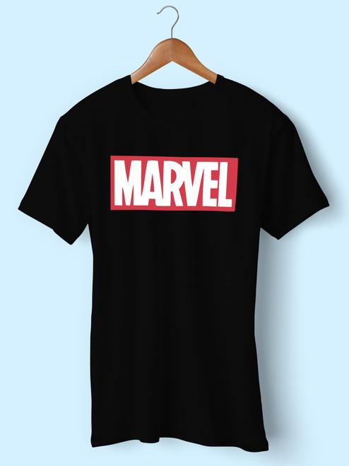 Vintage Marvel Big Spell Out Logo Men T Shirt