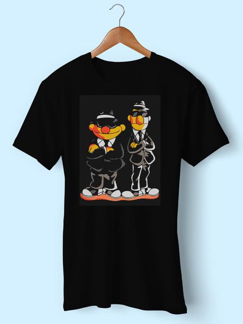 Vintage Taehyung Bts Ernie Bert Blues Brothers Inspired Men T Shirt