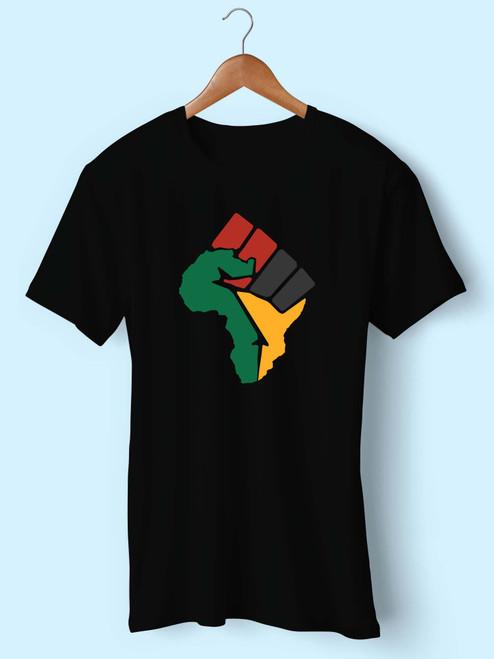 Black Fist African Flag Best Men T Shirt