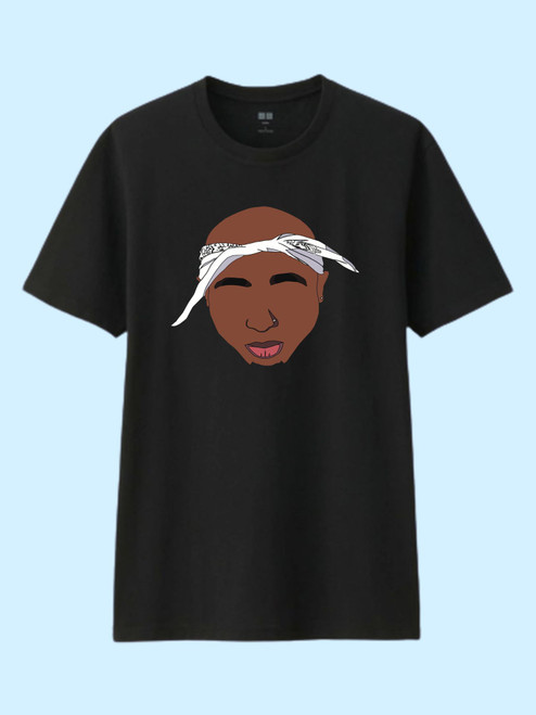 Tupac With Bandana Best Men T Shirt
