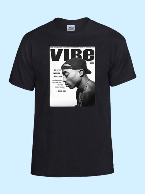Vibe Tupac Shakur Cover Album Music Best Men T Shirt