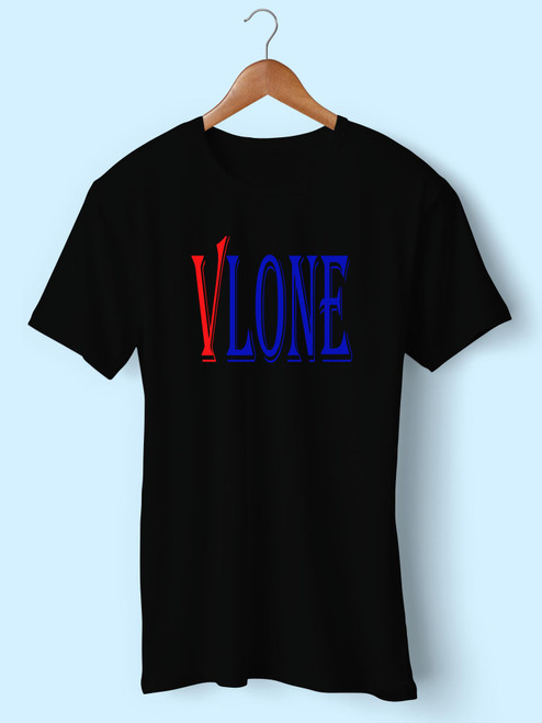 V Lone Logo Best Inspired Men T Shirt