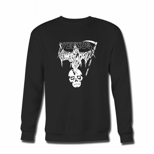 Your Yeezus Death Skull Crewneck Sweatshirt just got an update. This super comfortable and lighter weight crewneck will become your favorite go-to sweatshirt. The cozy spandex cuffs and waistband make this pill-resistant sweatshirt a fan favorite.And your group will look and feel their best in this premium ringspun cotton crew.