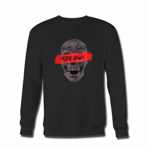 Your Yeezus Skull Flowers Crewneck Sweatshirt just got an update. This super comfortable and lighter weight crewneck will become your favorite go-to sweatshirt. The cozy spandex cuffs and waistband make this pill-resistant sweatshirt a fan favorite.And your group will look and feel their best in this premium ringspun cotton crew.