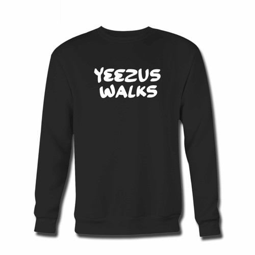 Your Yeezus Walks Fan Art Crewneck Sweatshirt just got an update. This super comfortable and lighter weight crewneck will become your favorite go-to sweatshirt. The cozy spandex cuffs and waistband make this pill-resistant sweatshirt a fan favorite.And your group will look and feel their best in this premium ringspun cotton crew.