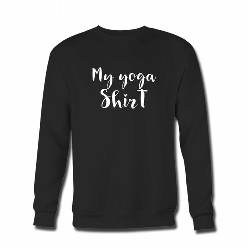 Your Yoga Shirt Motif Crewneck Sweatshirt just got an update. This super comfortable and lighter weight crewneck will become your favorite go-to sweatshirt. The cozy spandex cuffs and waistband make this pill-resistant sweatshirt a fan favorite.And your group will look and feel their best in this premium ringspun cotton crew.