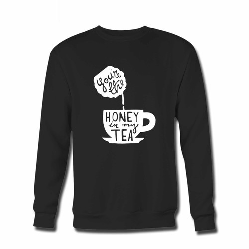 Your You Are The Honey In My Tea Crewneck Sweatshirt just got an update. This super comfortable and lighter weight crewneck will become your favorite go-to sweatshirt. The cozy spandex cuffs and waistband make this pill-resistant sweatshirt a fan favorite.And your group will look and feel their best in this premium ringspun cotton crew.