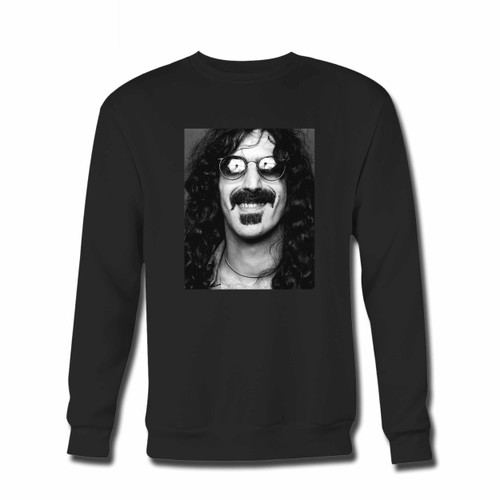 Your Zappa Grayscale Photo Woth Eyesglasses Crewneck Sweatshirt just got an update. This super comfortable and lighter weight crewneck will become your favorite go-to sweatshirt. The cozy spandex cuffs and waistband make this pill-resistant sweatshirt a fan favorite.And your group will look and feel their best in this premium ringspun cotton crew.