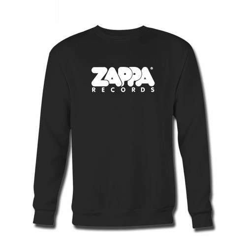 Your Zappa Records Logo Original Crewneck Sweatshirt just got an update. This super comfortable and lighter weight crewneck will become your favorite go-to sweatshirt. The cozy spandex cuffs and waistband make this pill-resistant sweatshirt a fan favorite.And your group will look and feel their best in this premium ringspun cotton crew.