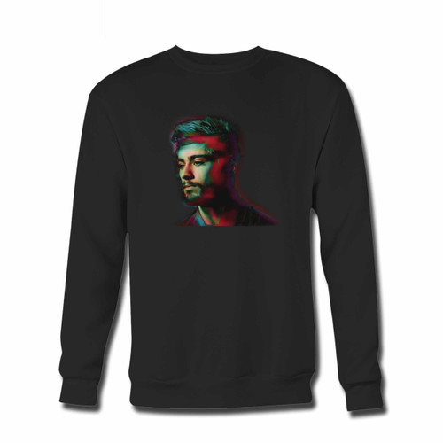 Your Zayn Malik Pillowtalk Photo Blur Crewneck Sweatshirt just got an update. This super comfortable and lighter weight crewneck will become your favorite go-to sweatshirt. The cozy spandex cuffs and waistband make this pill-resistant sweatshirt a fan favorite.And your group will look and feel their best in this premium ringspun cotton crew.