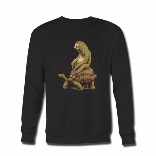 Your Zootopia Tortoise Sloth Design Crewneck Sweatshirt just got an update. This super comfortable and lighter weight crewneck will become your favorite go-to sweatshirt. The cozy spandex cuffs and waistband make this pill-resistant sweatshirt a fan favorite.And your group will look and feel their best in this premium ringspun cotton crew.