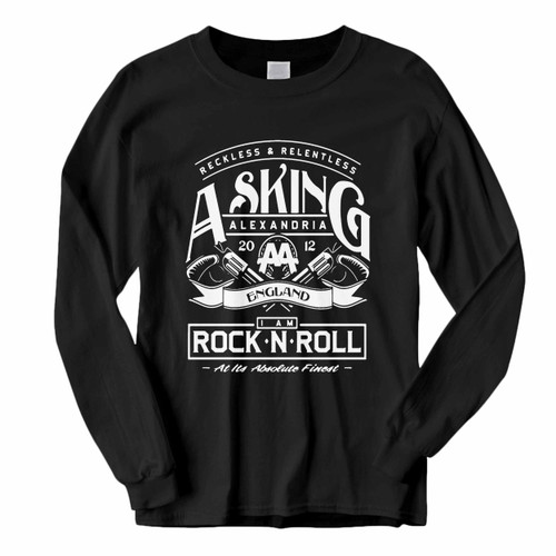 This classic fit Asking Alexandria Aa England Long Sleeve Shirt is casually elegant and very comfortable. With fine quality print to make one stand out, it's a perfect fit for every occasion.
