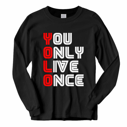This classic fit Yolo With Mr Robot Font Type Long Sleeve Shirt is casually elegant and very comfortable. With fine quality print to make one stand out, it's a perfect fit for every occasion.