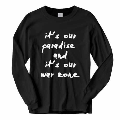 This classic fit Zayn Malik Quote Our Paradise Long Sleeve Shirt is casually elegant and very comfortable. With fine quality print to make one stand out, it's a perfect fit for every occasion.
