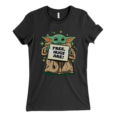 These are Baby yoda Free Hugs Are Fresh Women T Shirt that are cute tied to the side or paired with a cardigan or jacket for a more styled look. So comfy and classic, they are sure to make your vacation extra magical.