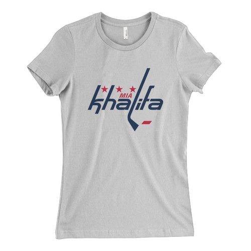 These are Mia Khalifa Caps Logo Fresh Women T Shirt that are cute tied to the side or paired with a cardigan or jacket for a more styled look. So comfy and classic, they are sure to make your vacation extra magical.