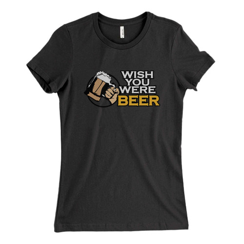 These are Wish You Were Beer Logo Fresh Women T Shirt that are cute tied to the side or paired with a cardigan or jacket for a more styled look. So comfy and classic, they are sure to make your vacation extra magical.
