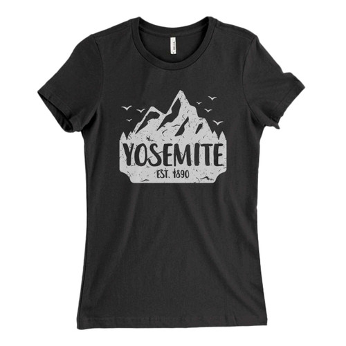 These are Yosemite Est 1890 Fresh Women T Shirt that are cute tied to the side or paired with a cardigan or jacket for a more styled look. So comfy and classic, they are sure to make your vacation extra magical.