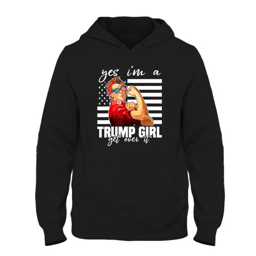 Was created with comfort in mind, this Yes I'm A Trump Girl Get Over It Fresh Best Hoodie lighter weight is perfect for any activity. Teams and groups love this hoodie for its affordable price and variety of colors.