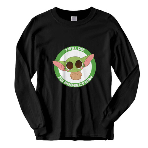 This classic fit Baby Yoda I Will Die To Protect Him Fresh Best Long Sleeve Shirt is casually elegant and very comfortable. With fine quality print to make one stand out, it's a perfect fit for every occasion.