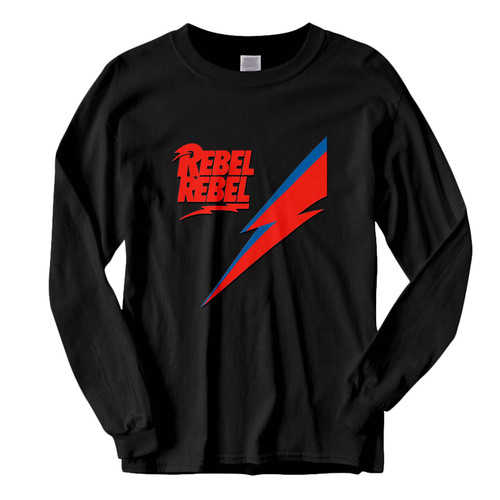 This classic fit David Bowie Logo Rebel Fresh Best Long Sleeve Shirt is casually elegant and very comfortable. With fine quality print to make one stand out, it's a perfect fit for every occasion.