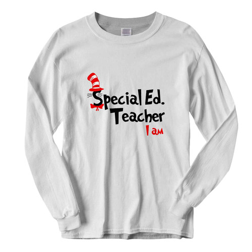 This classic fit Teacher I Am Dr Seuss Sepecial Ed Fresh Best Long Sleeve Shirt is casually elegant and very comfortable. With fine quality print to make one stand out, it's a perfect fit for every occasion.