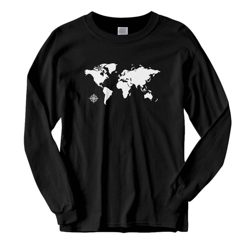 This classic fit World Map Compass Fresh Best Long Sleeve Shirt is casually elegant and very comfortable. With fine quality print to make one stand out, it's a perfect fit for every occasion.