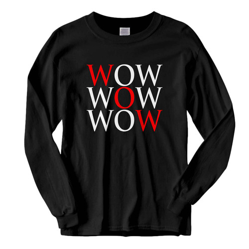 This classic fit Wow Logo Fresh Best Long Sleeve Shirt is casually elegant and very comfortable. With fine quality print to make one stand out, it's a perfect fit for every occasion.
