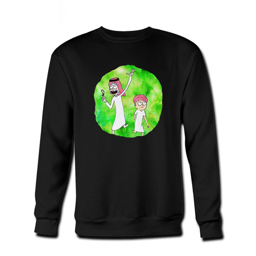 Your Arabian Rick And Morty Fresh Best Crewneck Sweatshirt just got an update. This super comfortable and lighter weight crewneck will become your favorite go-to sweatshirt. The cozy spandex cuffs and waistband make this pill-resistant sweatshirt a fan favorite.And your group will look and feel their best in this premium ringspun cotton crew.