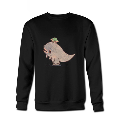 Your Baby Yoda Dinosaur Art Fresh Best Crewneck Sweatshirt just got an update. This super comfortable and lighter weight crewneck will become your favorite go-to sweatshirt. The cozy spandex cuffs and waistband make this pill-resistant sweatshirt a fan favorite.And your group will look and feel their best in this premium ringspun cotton crew.