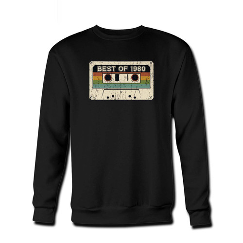 Your Best Of 1980 Fresh Best Crewneck Sweatshirt just got an update. This super comfortable and lighter weight crewneck will become your favorite go-to sweatshirt. The cozy spandex cuffs and waistband make this pill-resistant sweatshirt a fan favorite.And your group will look and feel their best in this premium ringspun cotton crew.