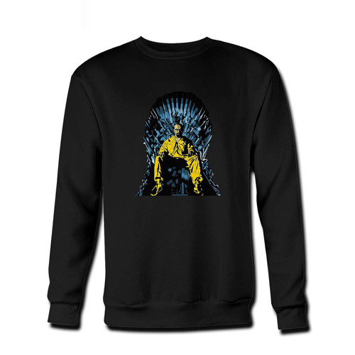 Your Breaking Bad Game Of Thrones Parody Fresh Best Crewneck Sweatshirt just got an update. This super comfortable and lighter weight crewneck will become your favorite go-to sweatshirt. The cozy spandex cuffs and waistband make this pill-resistant sweatshirt a fan favorite.And your group will look and feel their best in this premium ringspun cotton crew.