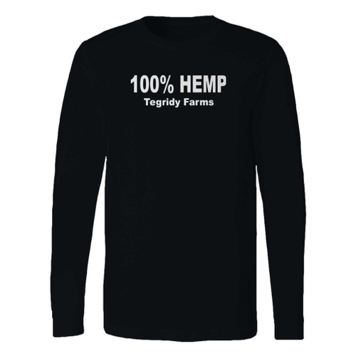 This classic fit 100% percent hemp tegridy farms long sleeve shirt is casually elegant and very comfortable. With fine quality print to make one stand out, it's a perfect fit for every occasion.