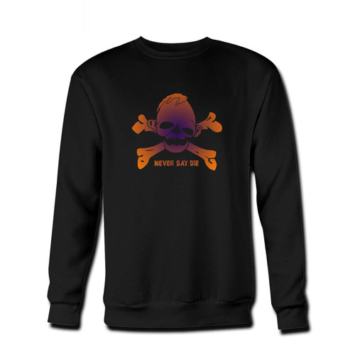 Your Goonies Never Say Die Fresh Best Crewneck Sweatshirt just got an update. This super comfortable and lighter weight crewneck will become your favorite go-to sweatshirt. The cozy spandex cuffs and waistband make this pill-resistant sweatshirt a fan favorite.And your group will look and feel their best in this premium ringspun cotton crew.
