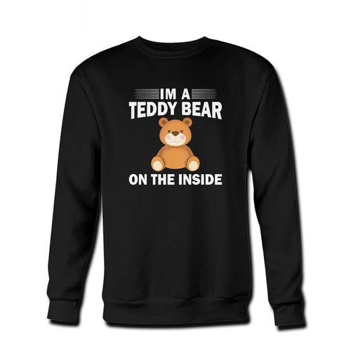 Your I'm A Teddy Bear On The Inside Fresh Best Crewneck Sweatshirt just got an update. This super comfortable and lighter weight crewneck will become your favorite go-to sweatshirt. The cozy spandex cuffs and waistband make this pill-resistant sweatshirt a fan favorite.And your group will look and feel their best in this premium ringspun cotton crew.