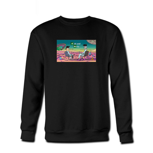 Your Rick an Morty Breaking Bad Parody Fresh Best Crewneck Sweatshirt just got an update. This super comfortable and lighter weight crewneck will become your favorite go-to sweatshirt. The cozy spandex cuffs and waistband make this pill-resistant sweatshirt a fan favorite.And your group will look and feel their best in this premium ringspun cotton crew.