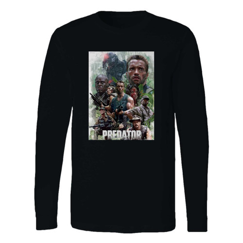 This classic fit arnold schwarzenegger the predator alien long sleeve shirt is casually elegant and very comfortable. With fine quality print to make one stand out, it's a perfect fit for every occasion.