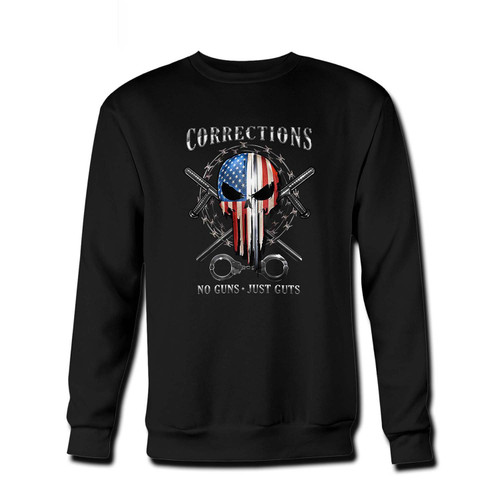 Your skull of freedom corrections Fresh Best Crewneck Sweatshirt just got an update. This super comfortable and lighter weight crewneck will become your favorite go-to sweatshirt. The cozy spandex cuffs and waistband make this pill-resistant sweatshirt a fan favorite.And your group will look and feel their best in this premium ringspun cotton crew.