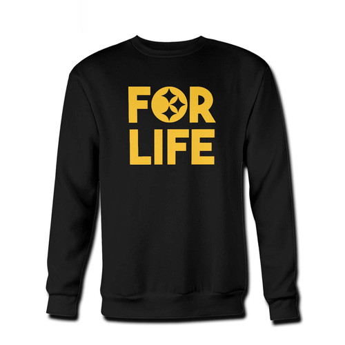 Your Steelers For Life Fresh Best Crewneck Sweatshirt just got an update. This super comfortable and lighter weight crewneck will become your favorite go-to sweatshirt. The cozy spandex cuffs and waistband make this pill-resistant sweatshirt a fan favorite.And your group will look and feel their best in this premium ringspun cotton crew.