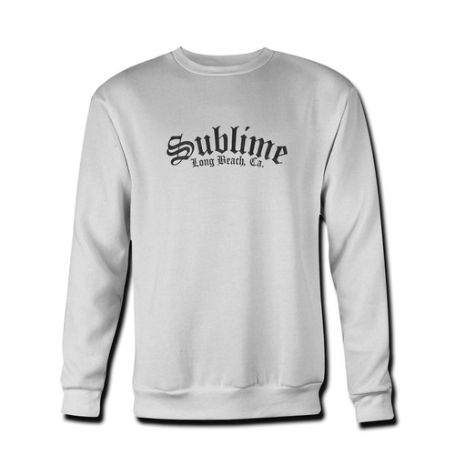 Your Sublime Long Beach Logo Fresh Best Crewneck Sweatshirt just got an update. This super comfortable and lighter weight crewneck will become your favorite go-to sweatshirt. The cozy spandex cuffs and waistband make this pill-resistant sweatshirt a fan favorite.And your group will look and feel their best in this premium ringspun cotton crew.