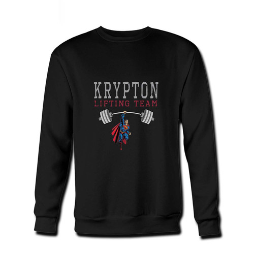 Your Superman Krypton Lifting Team Fresh Best Crewneck Sweatshirt just got an update. This super comfortable and lighter weight crewneck will become your favorite go-to sweatshirt. The cozy spandex cuffs and waistband make this pill-resistant sweatshirt a fan favorite.And your group will look and feel their best in this premium ringspun cotton crew.
