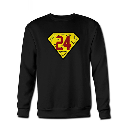 Your Superman Logo 24 Kobe Fresh Best Crewneck Sweatshirt just got an update. This super comfortable and lighter weight crewneck will become your favorite go-to sweatshirt. The cozy spandex cuffs and waistband make this pill-resistant sweatshirt a fan favorite.And your group will look and feel their best in this premium ringspun cotton crew.