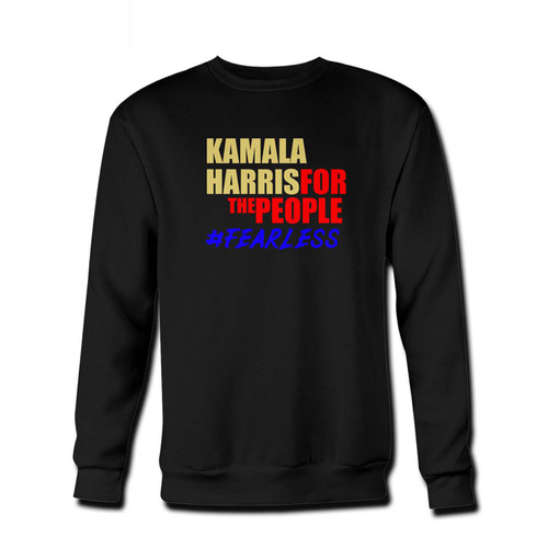 Your Support Kamala Harris For The People Fresh Best Crewneck Sweatshirt just got an update. This super comfortable and lighter weight crewneck will become your favorite go-to sweatshirt. The cozy spandex cuffs and waistband make this pill-resistant sweatshirt a fan favorite.And your group will look and feel their best in this premium ringspun cotton crew.