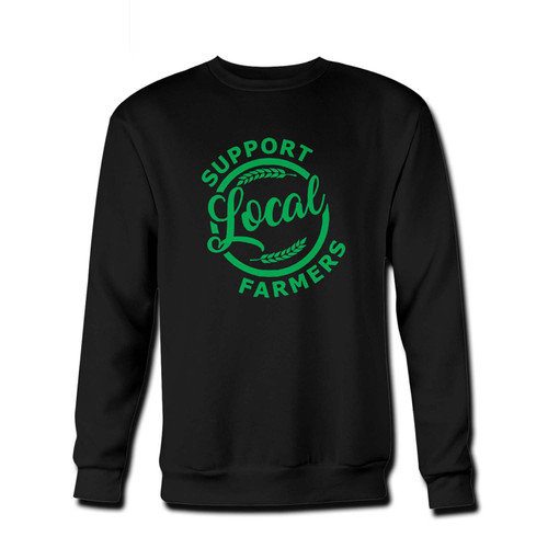 Your support local farmers Fresh Best Crewneck Sweatshirt just got an update. This super comfortable and lighter weight crewneck will become your favorite go-to sweatshirt. The cozy spandex cuffs and waistband make this pill-resistant sweatshirt a fan favorite.And your group will look and feel their best in this premium ringspun cotton crew.