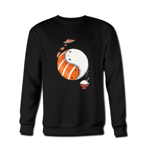 Your Sushi Hug Yin Yang Fresh Best Crewneck Sweatshirt just got an update. This super comfortable and lighter weight crewneck will become your favorite go-to sweatshirt. The cozy spandex cuffs and waistband make this pill-resistant sweatshirt a fan favorite.And your group will look and feel their best in this premium ringspun cotton crew.