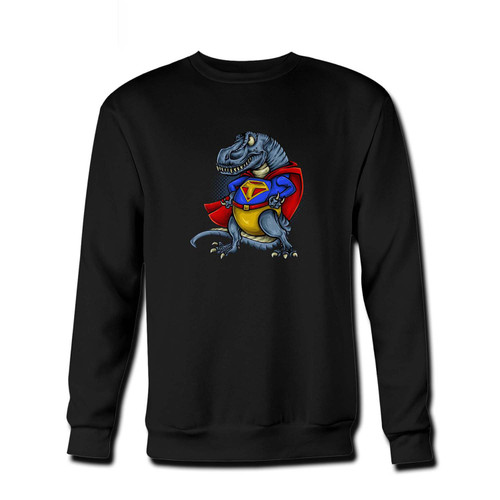 Your T- Rex Man Superhero Fresh Best Crewneck Sweatshirt just got an update. This super comfortable and lighter weight crewneck will become your favorite go-to sweatshirt. The cozy spandex cuffs and waistband make this pill-resistant sweatshirt a fan favorite.And your group will look and feel their best in this premium ringspun cotton crew.